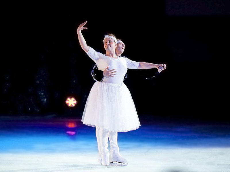 "comic reprise ""Ballet"" Moscow cirus on ice clown duet"