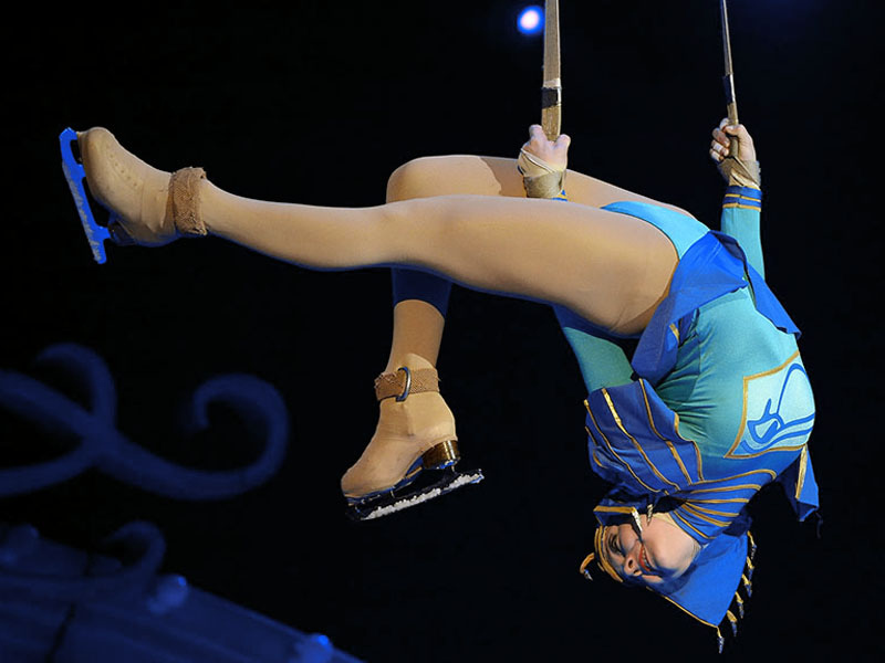 Egypt girl ice aerial acrobat
