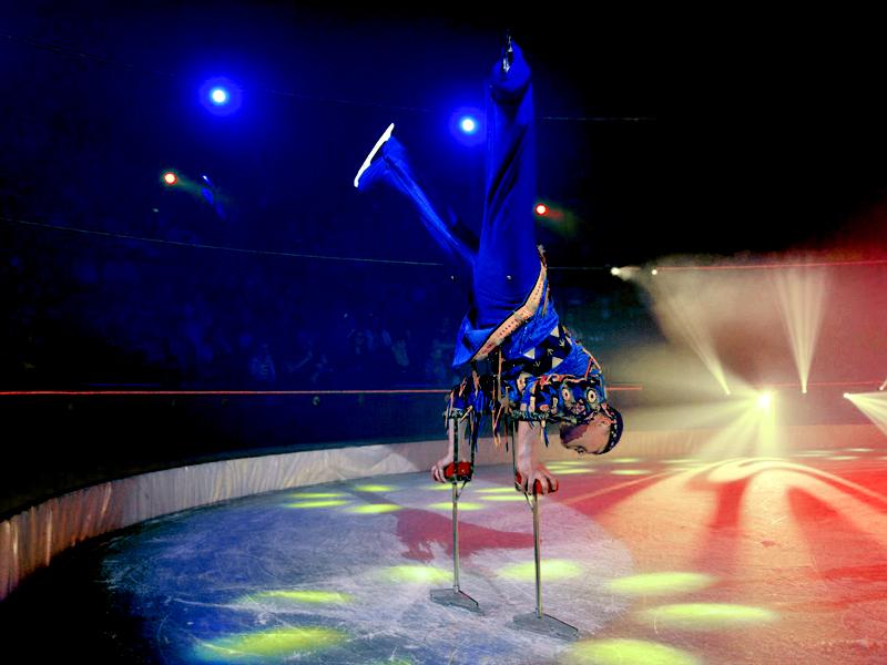 handstanding on ice