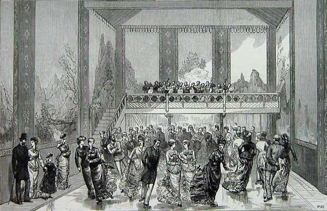 Illustration of first synthetic ice rink